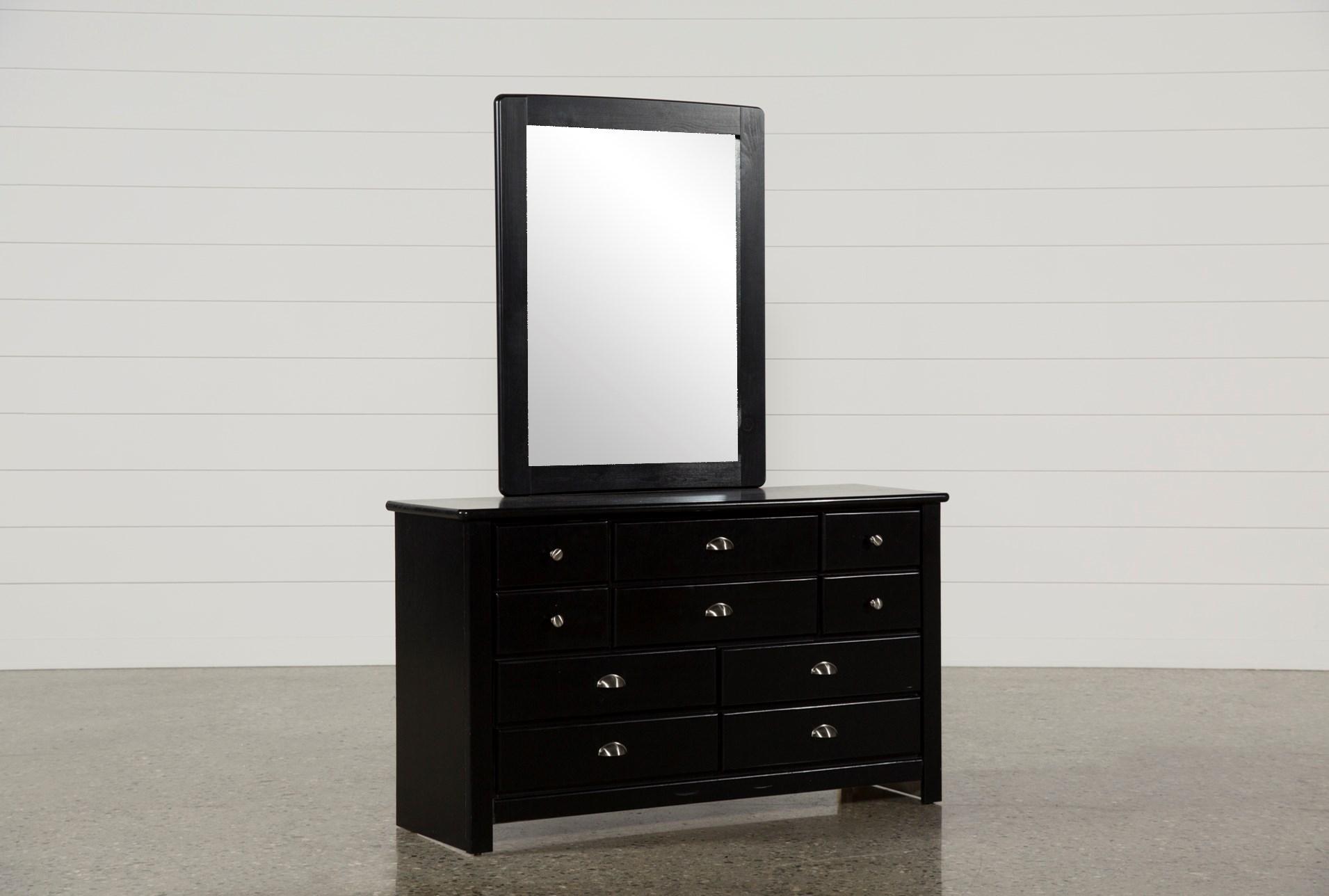 black dresser with mirror Summit Black Dresser/Mirror | Living Spaces black dresser with mirror