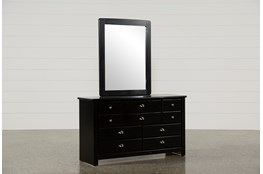 Summit Black Dresser/Mirror