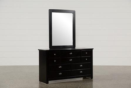 Summit Black Dresser Mirror