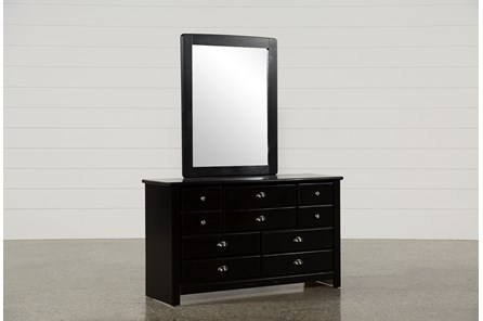 Summit Black Dresser Mirror