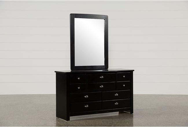 Summit Black Dresser/Mirror - 360