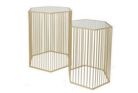 2 Piece Set Gabrielle Accent Tables