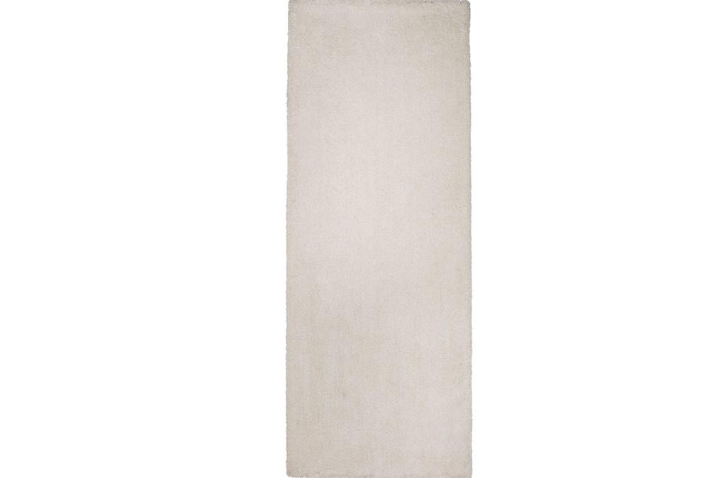 27X90 Runner Rug-Elation Shag Ivory