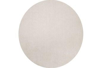 72 Inch Round Rug-Elation Shag Ivory