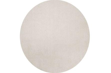 72 Inch Round Rug-Elation Shag Ivory - Main