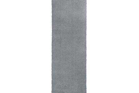 27X90 Runner Rug-Elation Shag Grey