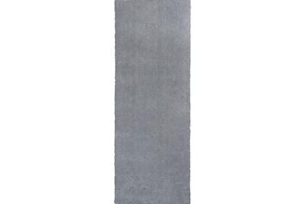27X90 Runner Rug-Elation Shag Grey - Main