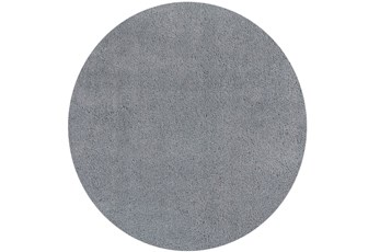 72 Inch Round Rug-Elation Shag Grey