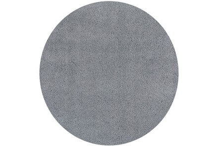 72 Inch Round Rug-Elation Shag Grey - Main
