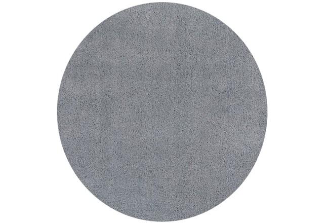 72 Inch Round Rug-Elation Shag Grey - 360