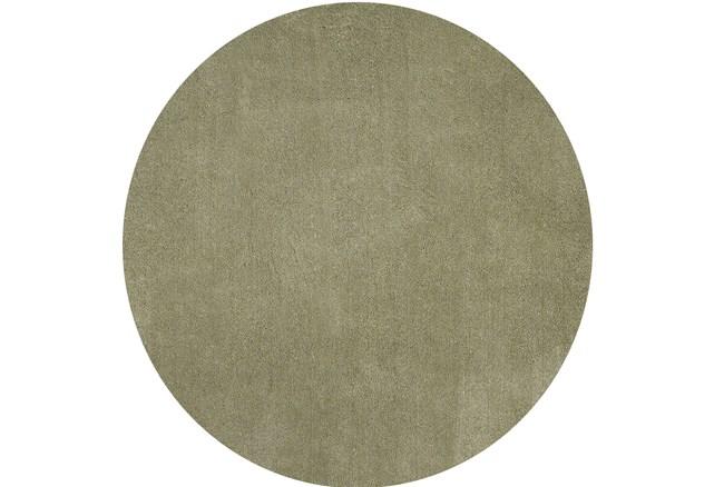 72 Inch Round Rug-Elation Shag Sage - 360