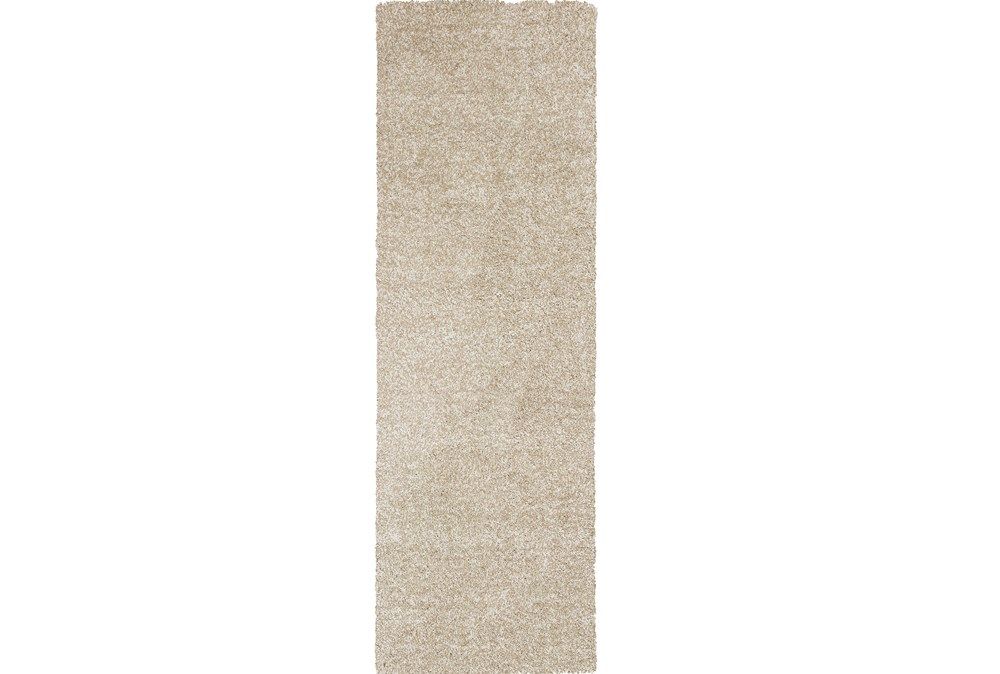 27X90 Runner Rug-Elation Shag Heather Ivory