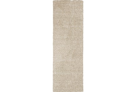 27X90 Runner Rug-Elation Shag Heather Ivory - Main