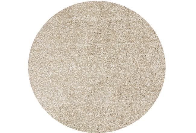 72 Inch Round Rug-Elation Shag Heather Ivory - 360