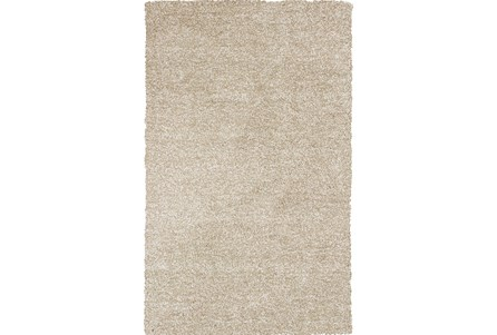 96X132 Rug-Elation Shag Heather Ivory