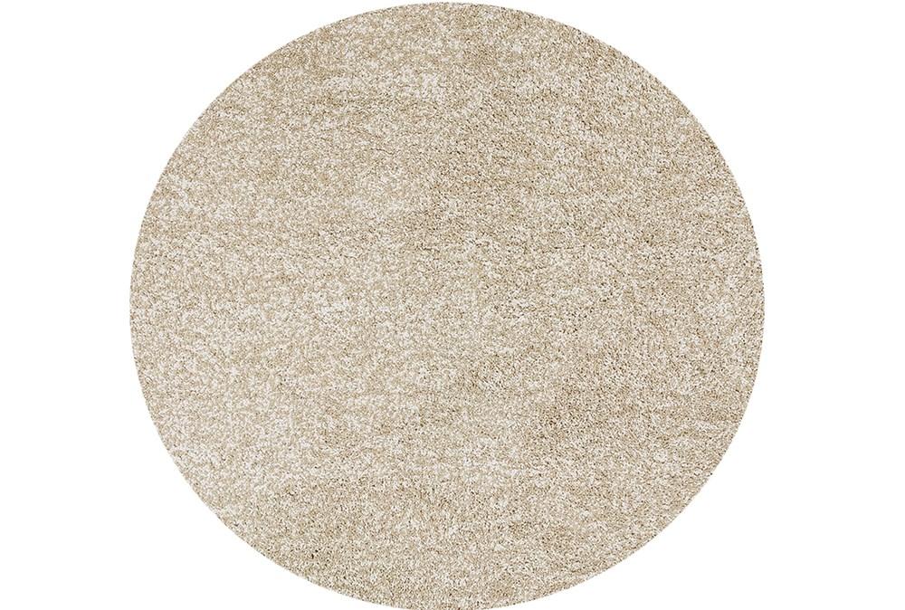96 Inch Round Rug-Elation Shag Heather Ivory