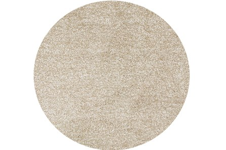 96 Inch Round Rug-Elation Shag Heather Ivory - Main