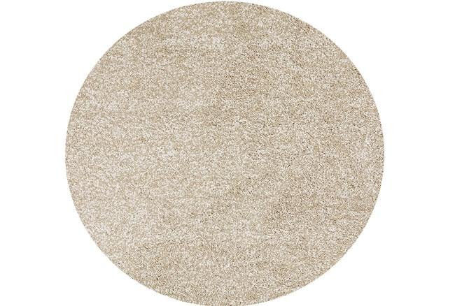 96 Inch Round Rug-Elation Shag Heather Ivory - 360