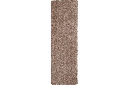 27X90 Runner Rug-Elation Shag Heather Beige - Main