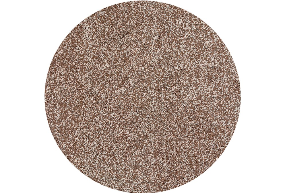 72 Inch Round Rug-Elation Shag Heather Beige