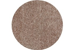 96 Inch Round Rug-Elation Shag Heather Beige