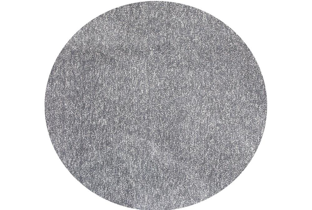 72 Inch Round Rug-Elation Shag Heather Grey