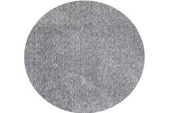 6' Round Rug-Elation Shag Heather Grey