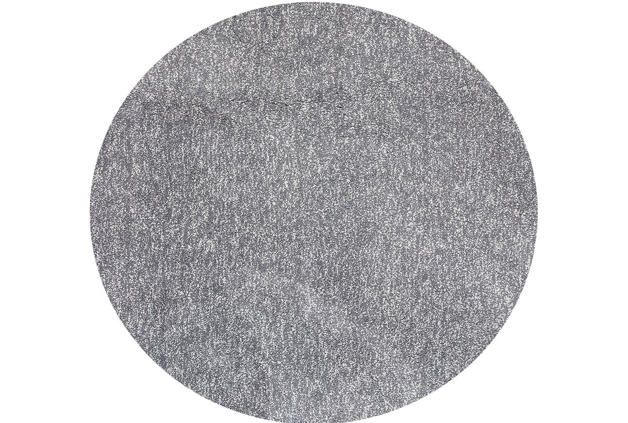 96 Inch Round Rug Elation Shag Heather Grey Living Spaces