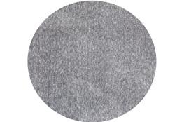 96 Inch Round Rug-Elation Shag Heather Grey