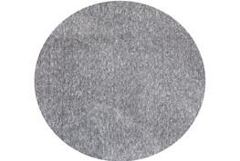 8' Round Rug-Elation Shag Heather Grey