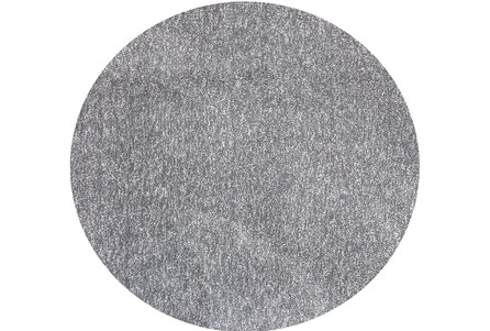 96 Inch Round Rug-Elation Shag Heather Grey