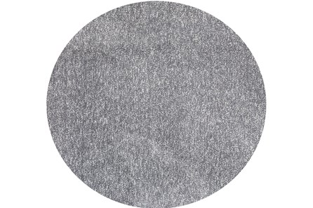 96 Inch Round Rug-Elation Shag Heather Grey - Main