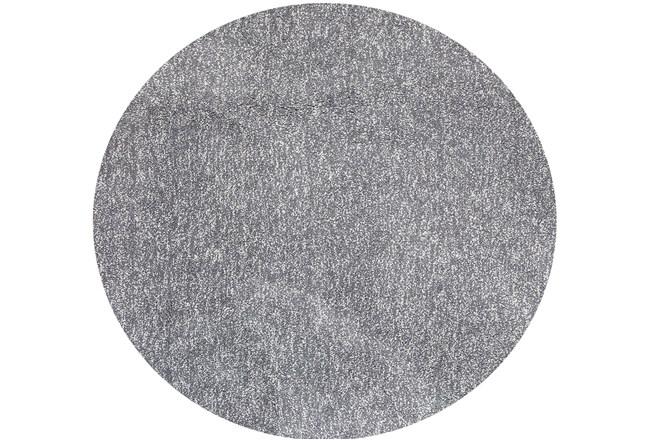 96 Inch Round Rug-Elation Shag Heather Grey - 360