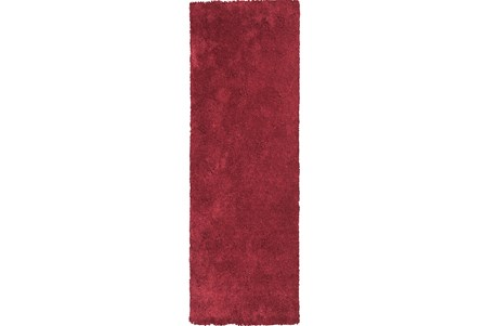 27X90 Runner Rug-Elation Shag Red