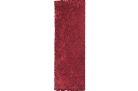 27X90 Runner Rug-Elation Shag Red - Main