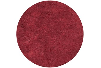6' Round Rug-Elation Shag Red