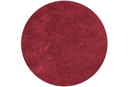 72 Inch Round Rug-Elation Shag Red
