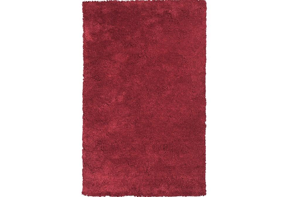 90X114 Rug-Elation Shag Red