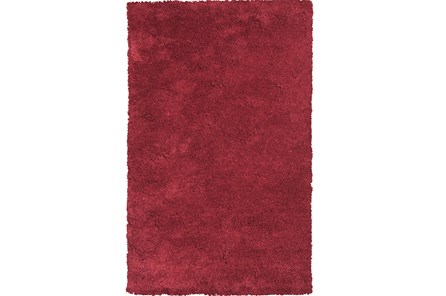 90X114 Rug-Elation Shag Red