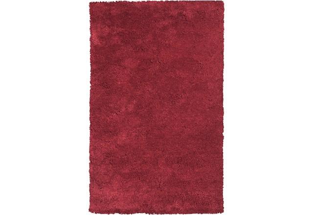 90X114 Rug-Elation Shag Red - 360