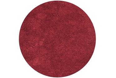 8' Round Rug-Elation Shag Red