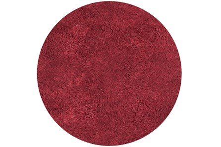 96 Inch Round Rug-Elation Shag Red - Main