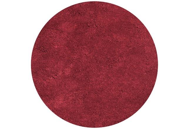 96 Inch Round Rug-Elation Shag Red - 360