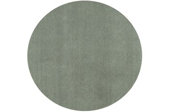 96 Inch Round Rug-Elation Shag Slate