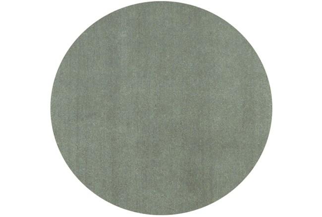 96 Inch Round Rug-Elation Shag Slate - 360
