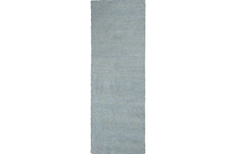 27X90 Runner Rug-Elation Shag Heather Blue