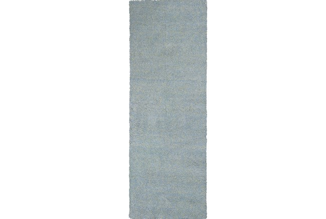 27X90 Runner Rug-Elation Shag Heather Blue - 360