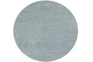 6' Round Rug-Elation Shag Heather Blue