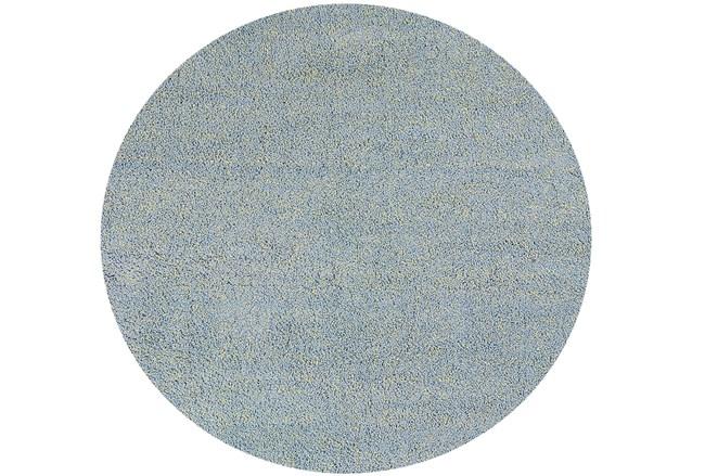 72 Inch Round Rug-Elation Shag Heather Blue - 360