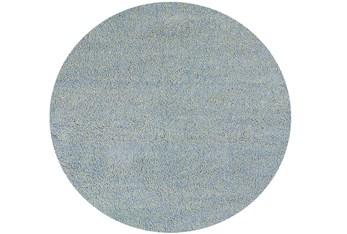 8' Round Rug-Elation Shag Heather Blue